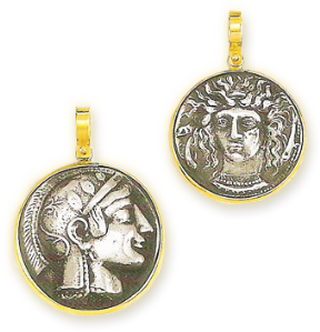 ancient coins- workshop jewellery- Athens Markos Gavalakis